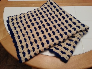 Dr Lorie's baby blanket completed