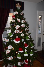 NICU hats on tree